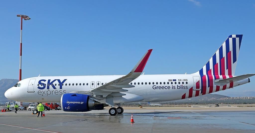 Greece's Sky Express shows off first A320neo | News | Flight Global
