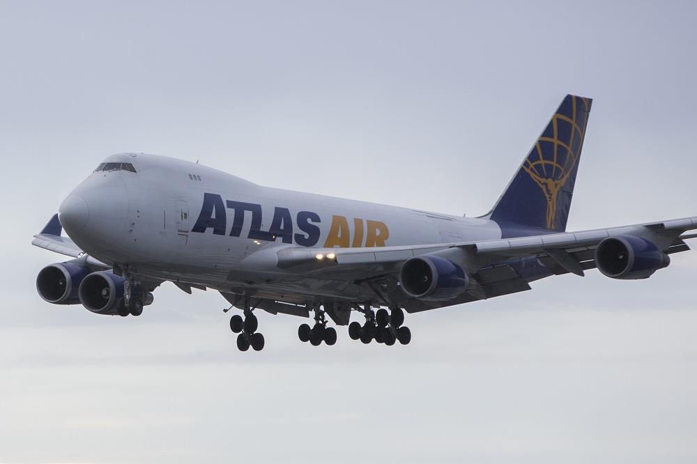 Atlas 747-400F sustains pod-strike on three engines in Shanghai