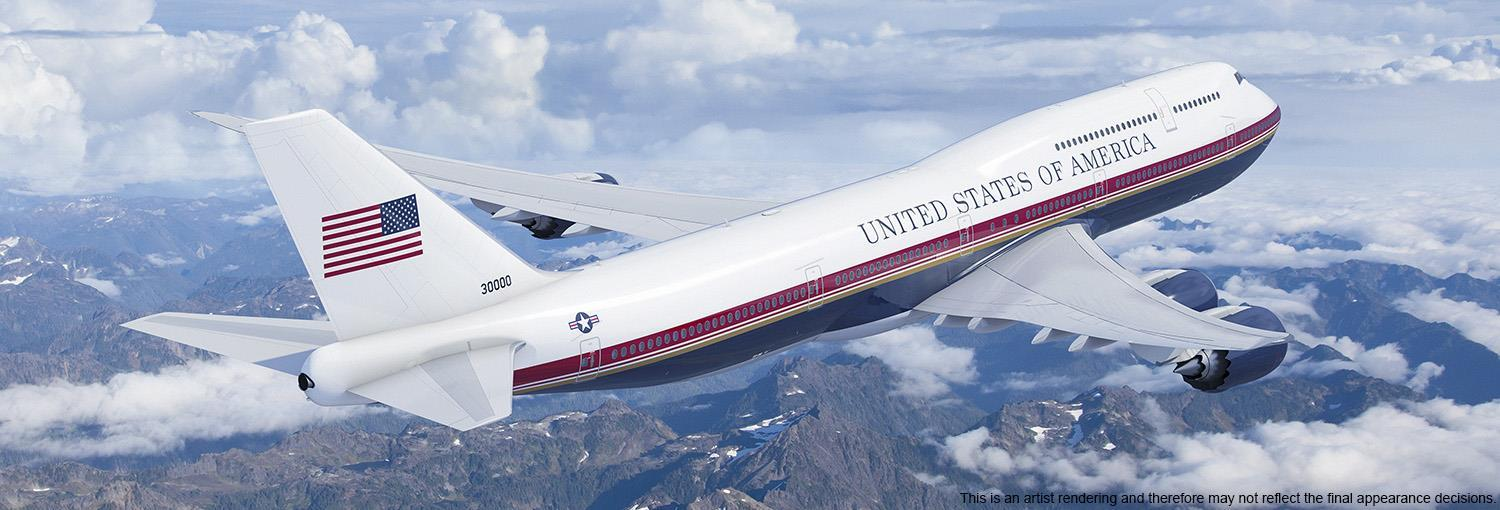 new air force one 747