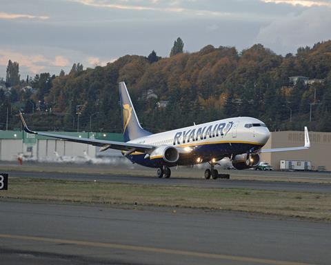 RyanAir 737-800.  Boeing