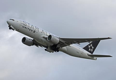 United Airlines Star Alliance Boeing 777-200ER 2019