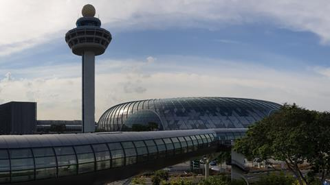 Jewel Changi Airport Control Tower  - 77264 jewel changi airport exterior with control tower 151041 - Better use of space assets eyed for Asia-Pacific ATM   News