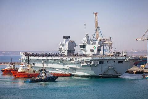 HMS Queen Elizabeth Кипр