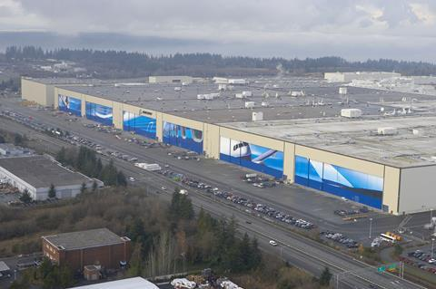 Boeing Everett site. Boeing