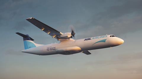 Hydrogen-powered ASL Aviation ATR concept rendering