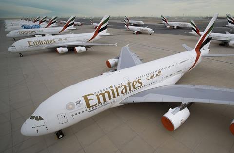 Emirates A380s in storage
