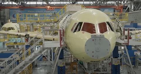 MC-21 assembly line-c-Irkut