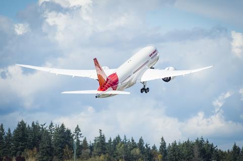 An Air India Boeing 787