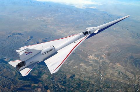 X-59 Flying