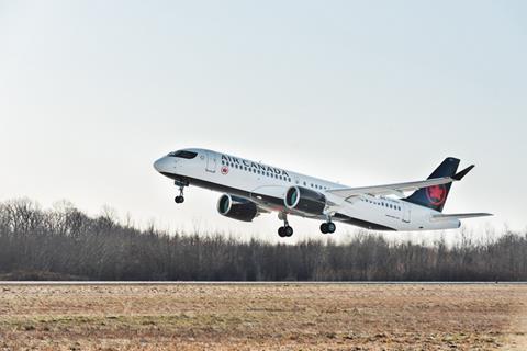 Air Canada's first A220