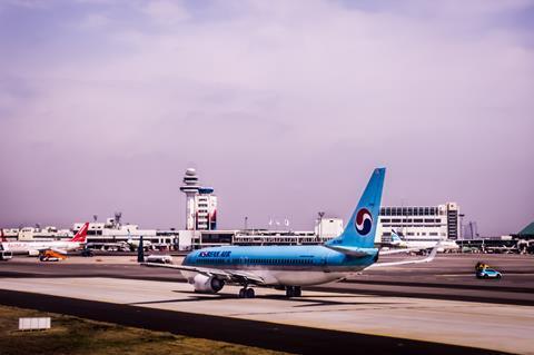 Korean Air at Seoul Gimpo airport in 2018