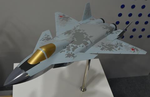 Caza a bordo MiG MAKS 2021
