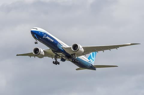 777X test ac #2 first flight 043020-2