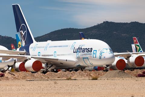 Stored Lufthansa A380