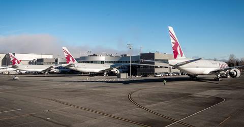 Three QR 777Fs-c-Boeing