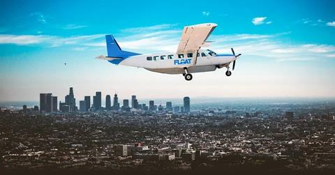 FLOAT Cessna Caravan over Los Angeles