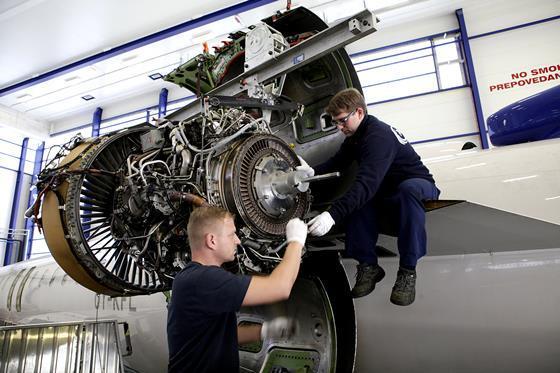 MTU on wing maintenance