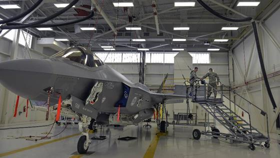 DC - F-35A Lightning II for maintenance at Eglin Air Force Base