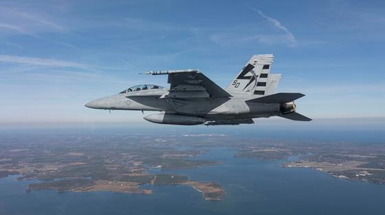 TCTS II in first flight on FA-18E Super Hornet