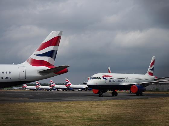 Stored British Airways A320s