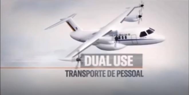 Embraer STOUT civilian use - screenshot of Brazilian air force presentation
