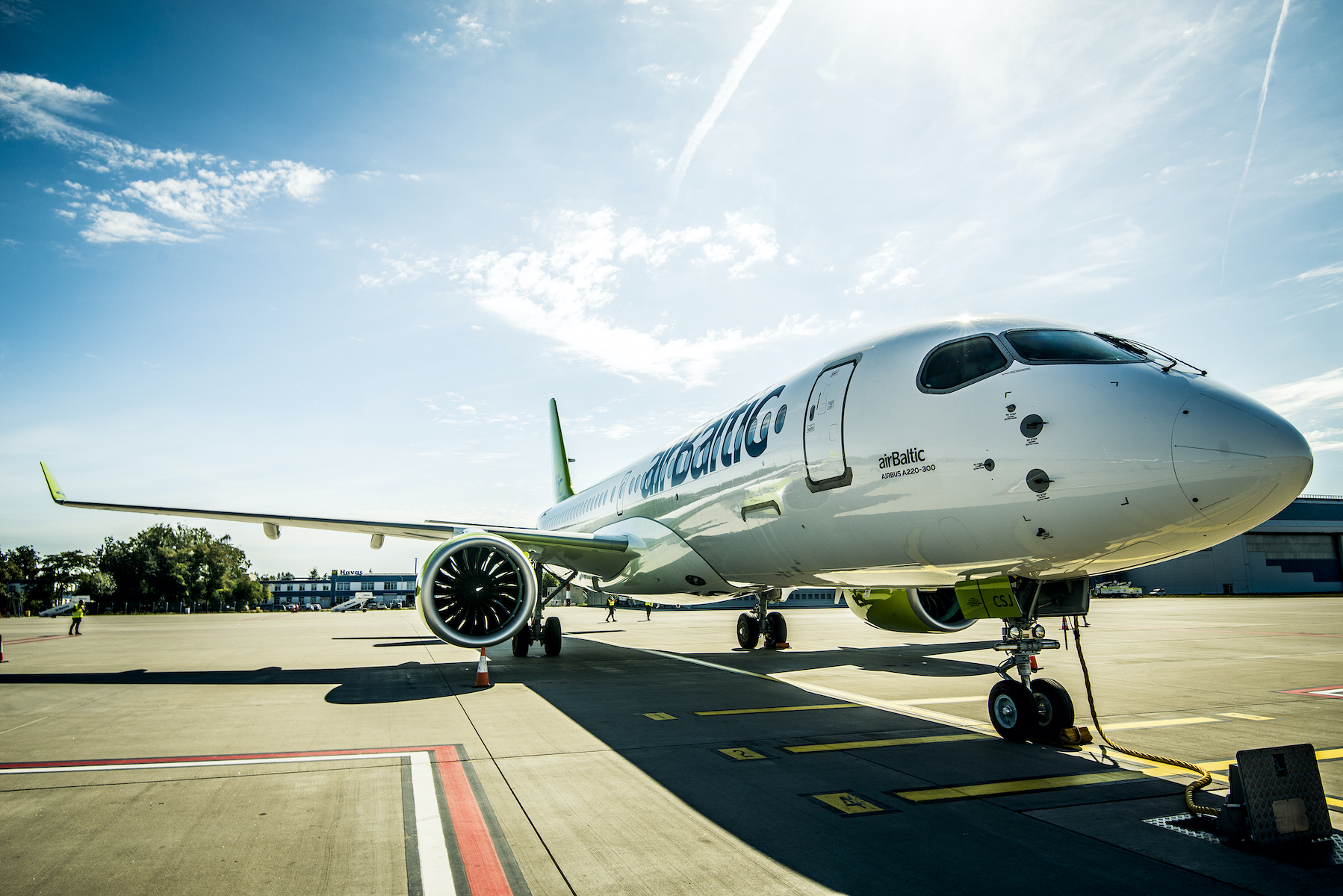 Disinfection adds 50% to Air Baltic A220 turnaround time